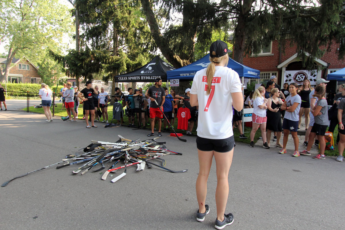 Laura Stacey LS7 Sticks In For Charity Road Hockey Tournament